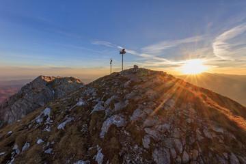 sunrise in Piatra Craiului Mountains, Romania