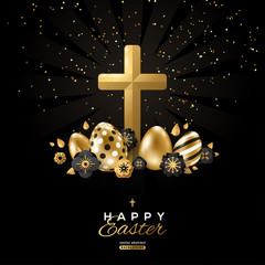 Easter poster with cross