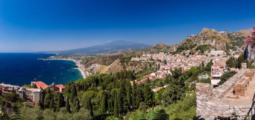 Panorama di Taormina, Sicilia, Italia