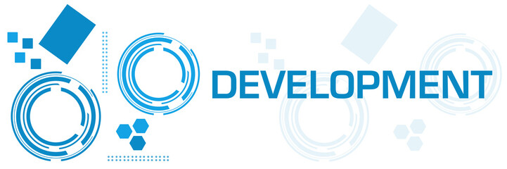 Development Blue Technology Square Horizontal