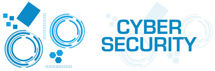 Cyber Security Blue Technology Square Horizontal