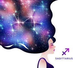 Sagittarius zodiac sign illustration