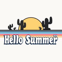Garden Poster Retro sign retro hello summer poster