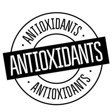 antioxidants stamp on white