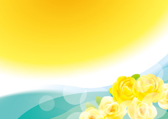 ありがとう 黄色いバラの背景