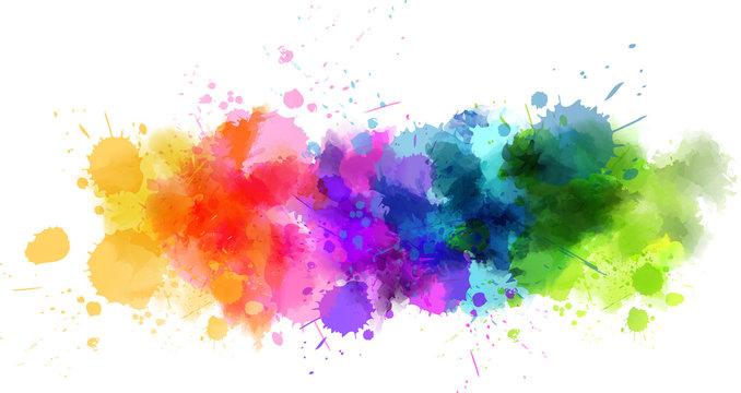 Watercolor splash line