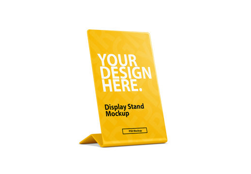 Thin Display Stand Mockup Isolated on White
