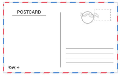 Vector postcard with white paper  Vector postcard empty mail