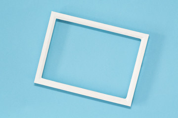 frame, blue, pastel,minimal, flat, background, lay, paper, space, blank,  picture, template, copy, top, color, view, design, abstract, creative, texture, empty, white, composition, minimalism, table,