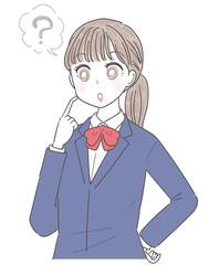 女子高生 高校生 表情