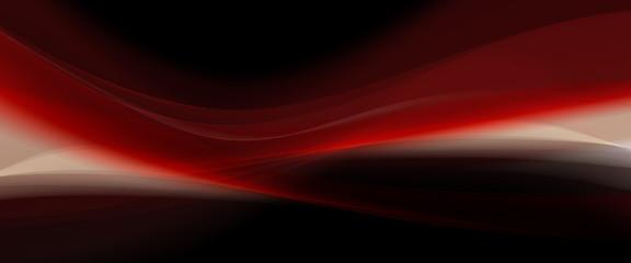Obraz czerwona fala - fototapety do salonu