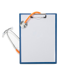 Stethoscope over Clipboard