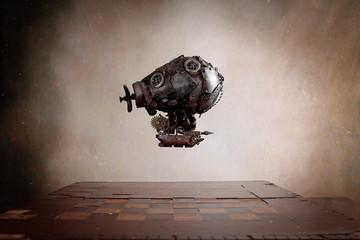 Dirigibile Steampunk su scacchiera