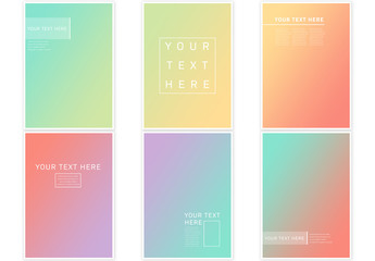 Abstract Flyer Layout with Modern Gradient Colors
