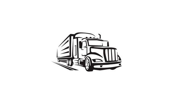 vector illustration of a truck