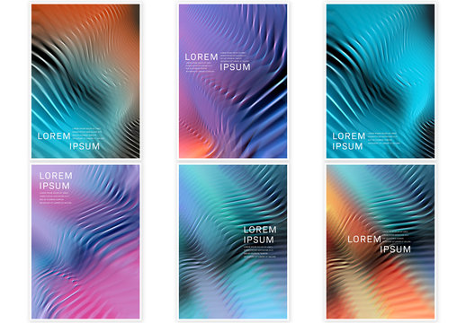 Abstract Colorful Gradient Flyers Layout