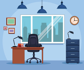Business office workplace