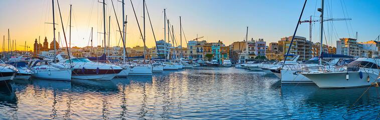 Panorama of Msida port, Malta Fototapete