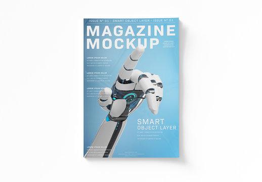 Magazine Cover Mockup Isolated on White