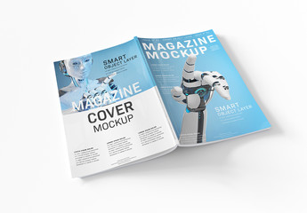 Magazine Cover Mockup Isolated on White