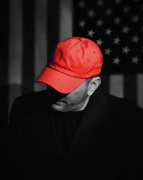 Republican Voter with Red Hat