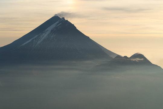 Kluchevskaya Sopka, Kamen and Bezymyannyi Volcanoes