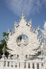 Fotobehang Monument Wat Rong Khun (White Temple) in Chiang Rai (Thailand)
