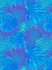 beautiful tropic vector illustration. Tropical background. Jungle plants and leaves border frame. exotic foliage poster. Can use for summer, travelling, vacation images.