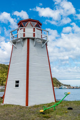 Lighthouse overlooking the bay, Route 450, Newfoundland Canada
