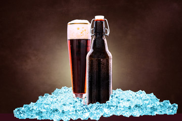 bottle of dark beer