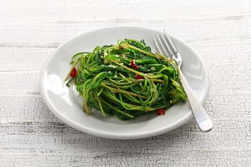 sauteed agretti (saltwort), italian food