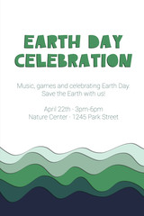 Earth Day Celebration - poster template