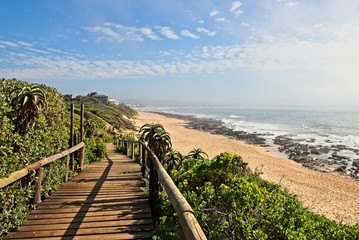 Supertubes beach in Jeffrey's Bay, South Africa, this is a very popular surfing beach and tourist attraction.