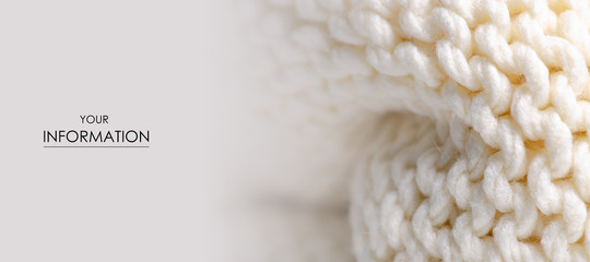 Large knit white fabric texture textile macro pattern blur background