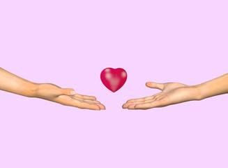Helping hand. 3D render