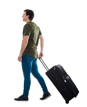 man carry luggage