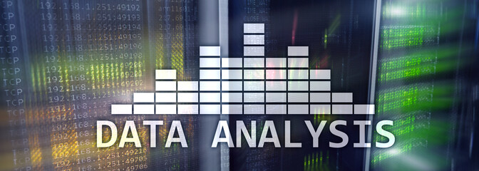 Website Header Wallpaper. Big Data analysis. Data center