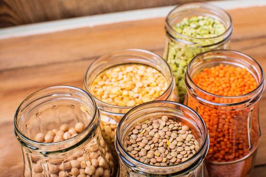 Healthy food, diet, nutrition concept, vegan protein