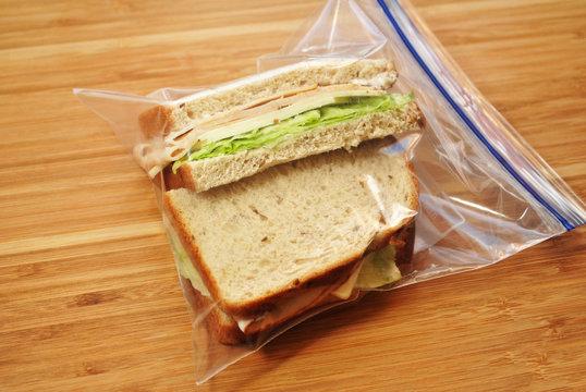 Chicken &Cheese Sandwich in a Sandwich Bag