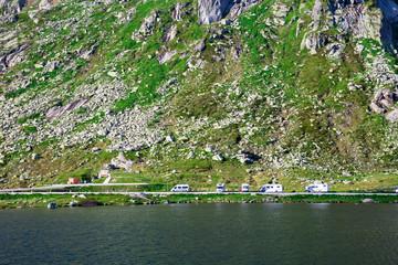 Reisemobilstellplatz in den Bergen