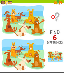find differences with cartoon dog characters