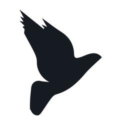 Bird silhouette icon.