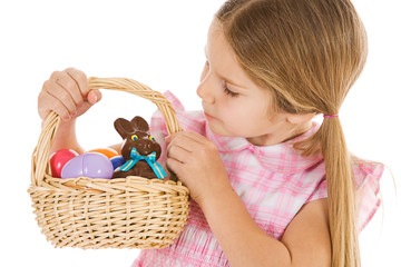 Easter: Chocolate Easter Bunny In Basket