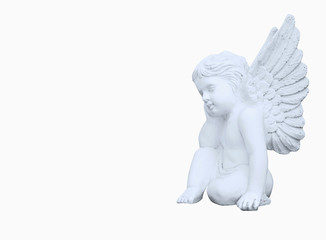 Wall Mural - Statue of  little angel as symbol of guards for children