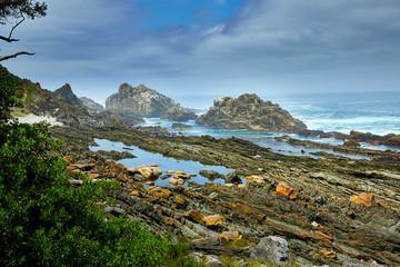 Beautiful rocky coast in south africa