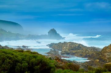 Huge waves on coastline