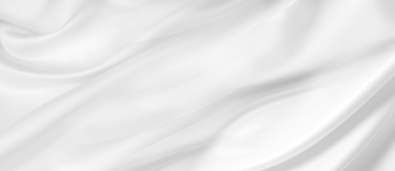 In de dag Abstract wave White silk fabric