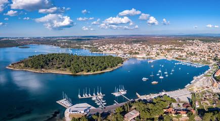 Aerial shot of Medulin, a town in Croatia, popular tourist destinaion Fototapete