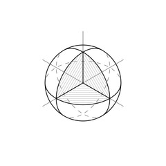 Sphere isometric projection Vector illustration