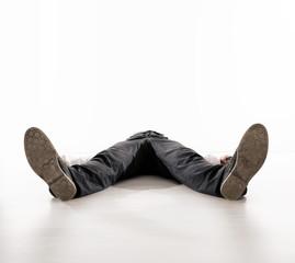 Printed kitchen splashbacks Artist KB Tired businessman having a nap - isolated